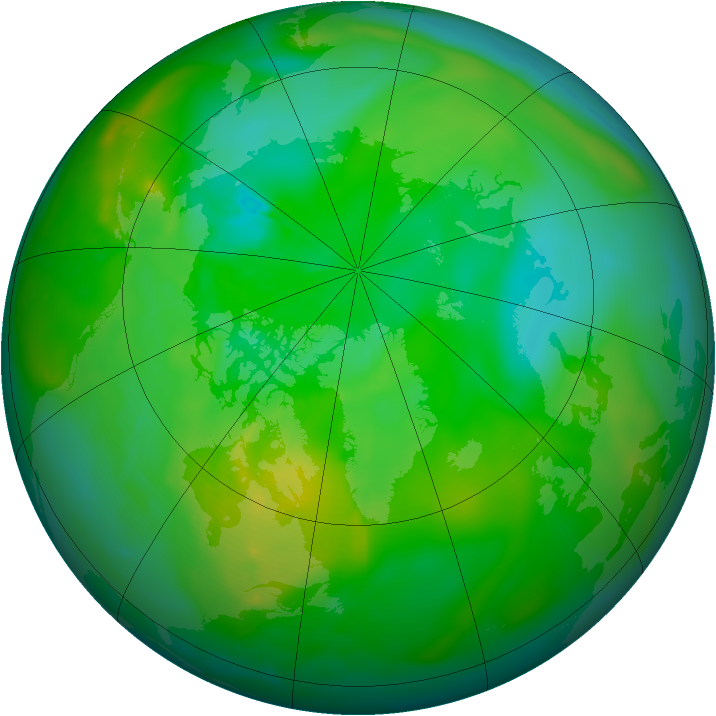 Arctic ozone map for 30 July 2010