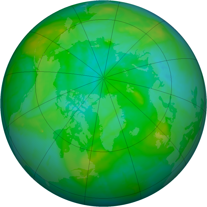 Arctic ozone map for 11 August 2010