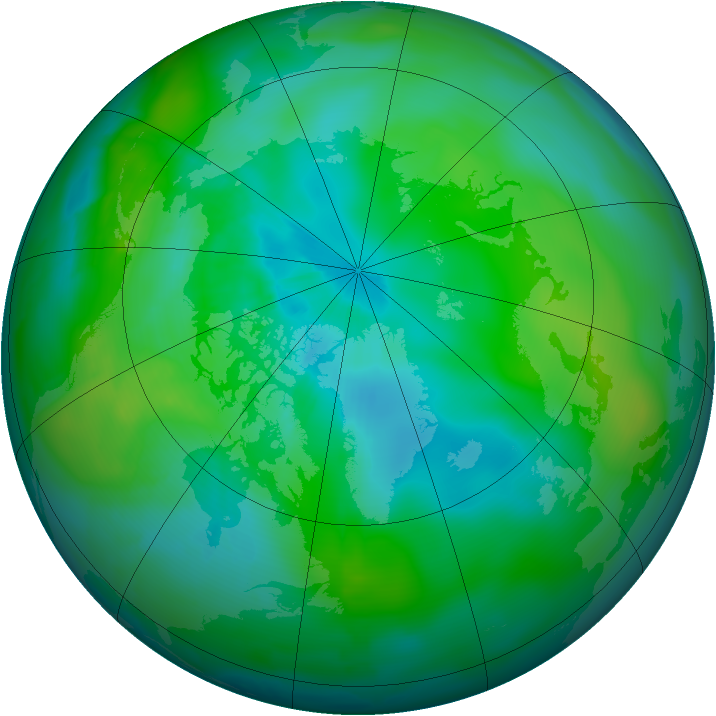 Arctic ozone map for 31 August 2010