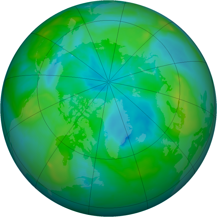 Arctic ozone map for 04 September 2010
