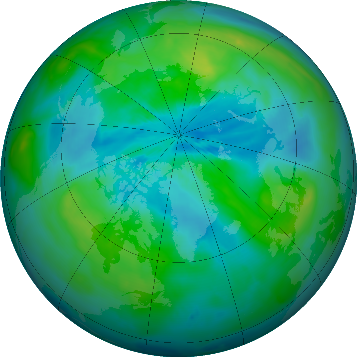 Arctic ozone map for 16 September 2010