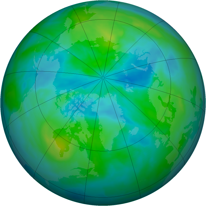 Arctic ozone map for 18 September 2010