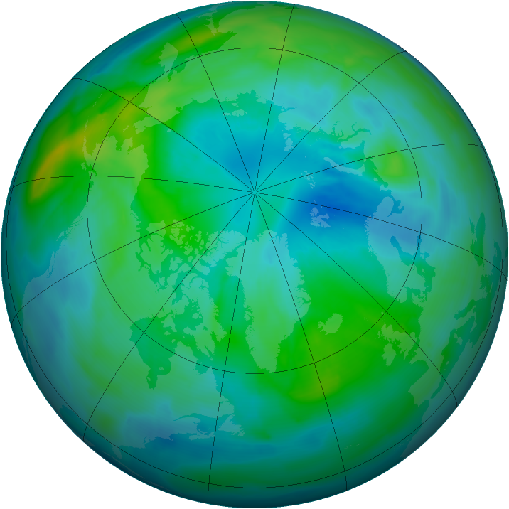 Arctic ozone map for 30 September 2010