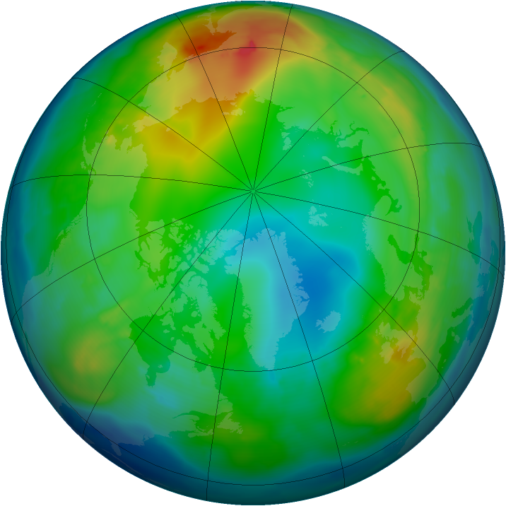 Arctic ozone map for 30 November 2010