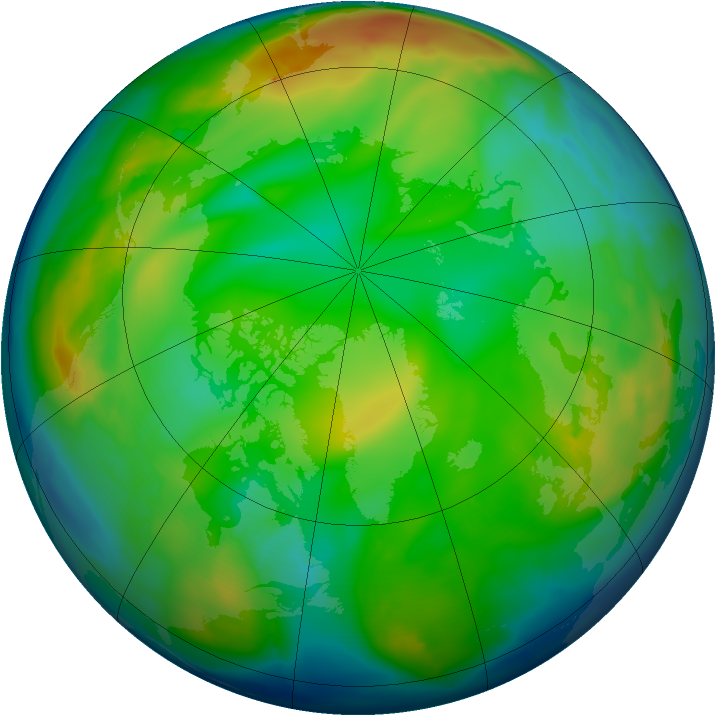 Arctic ozone map for 14 December 2010