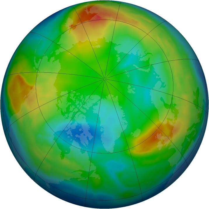 Arctic ozone map for 18 December 2010