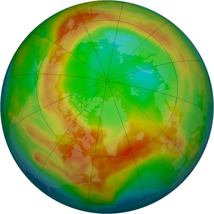 Arctic ozone map for 21 February 2011