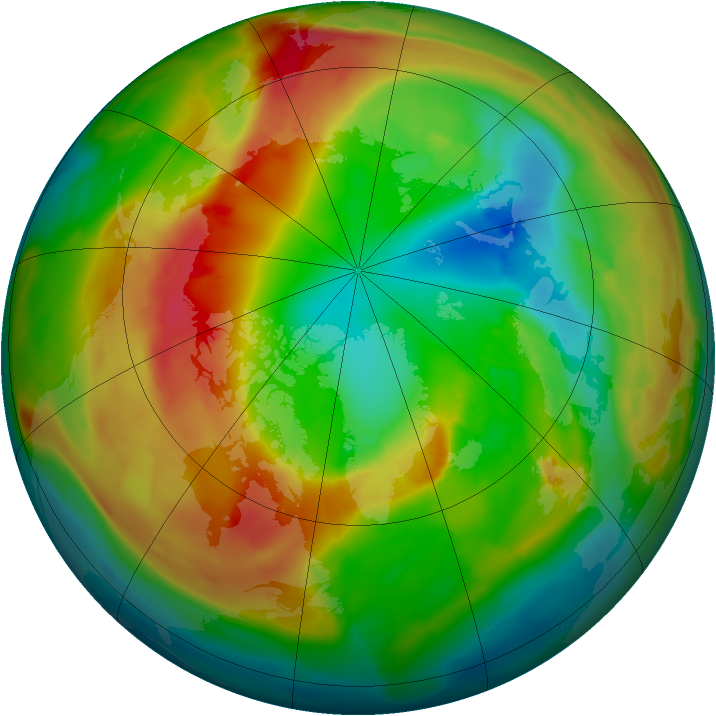 Arctic ozone map for 26 February 2011