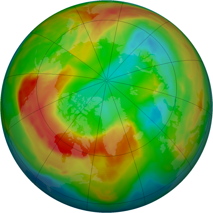 Arctic ozone map for 28 February 2011