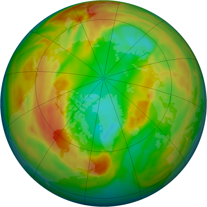 Arctic ozone map for 04 March 2011