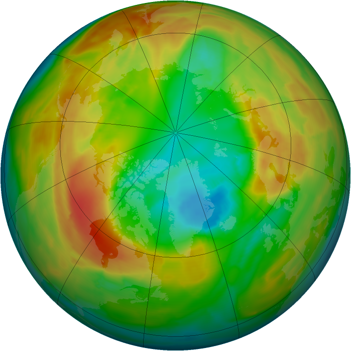 Arctic ozone map for 05 March 2011