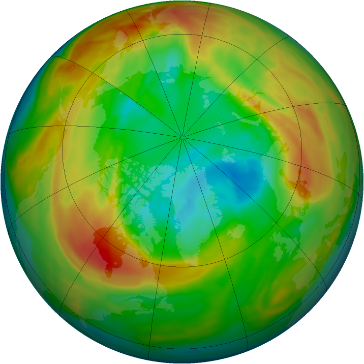 Arctic ozone map for 06 March 2011