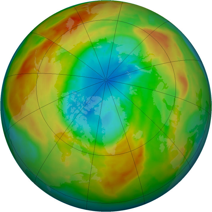 Arctic ozone map for 16 March 2011