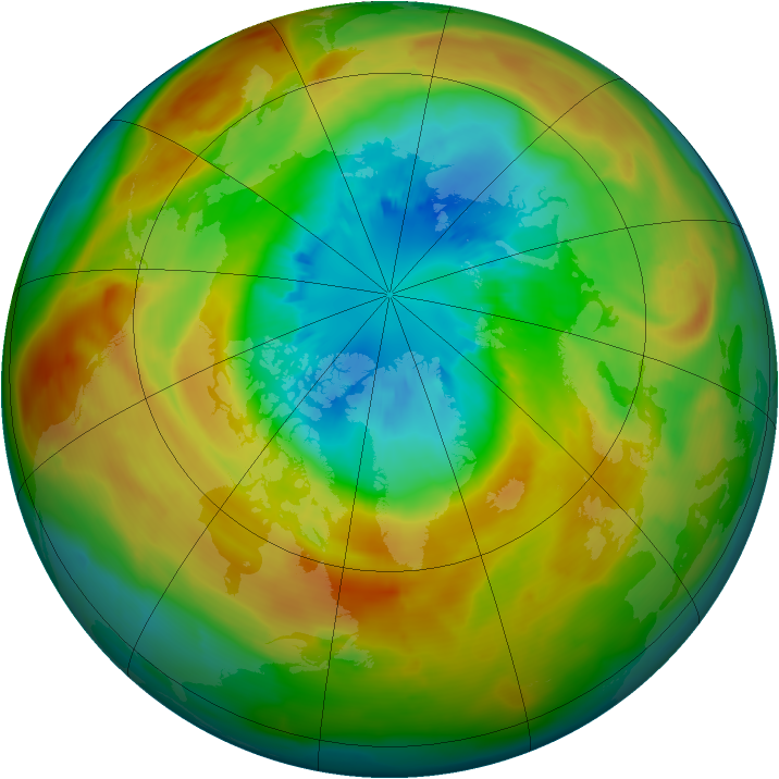 Arctic ozone map for 18 March 2011