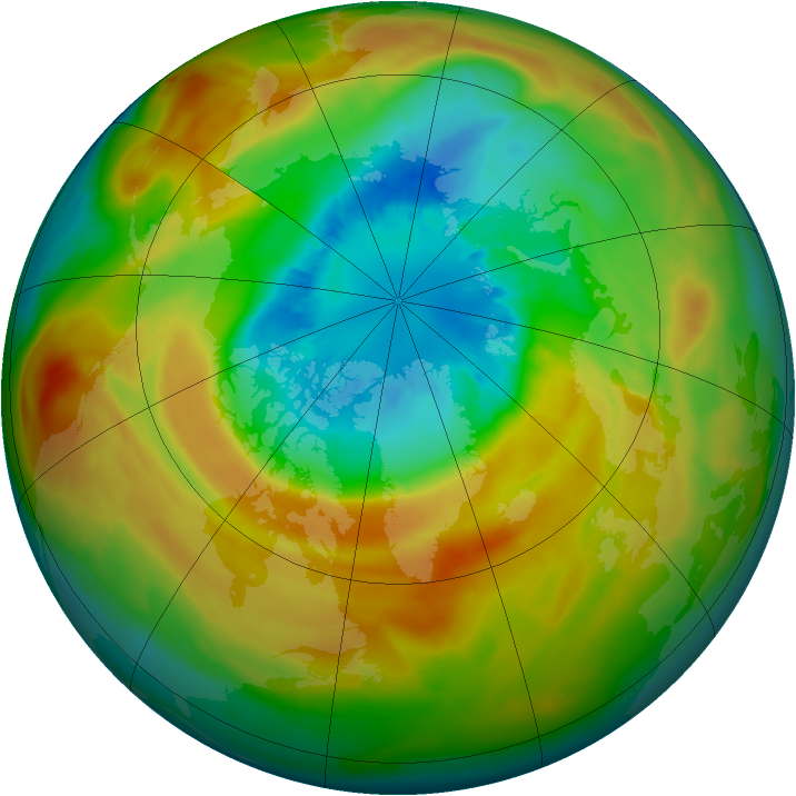 Arctic ozone map for 19 March 2011