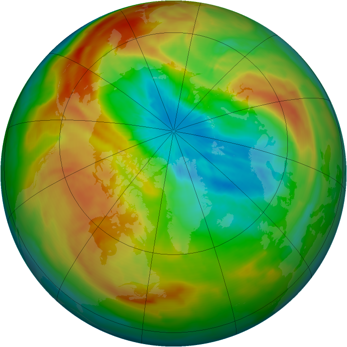 Arctic ozone map for 26 March 2011