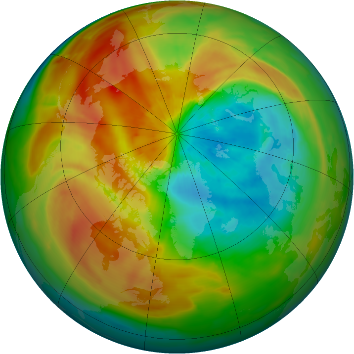 Arctic ozone map for 28 March 2011