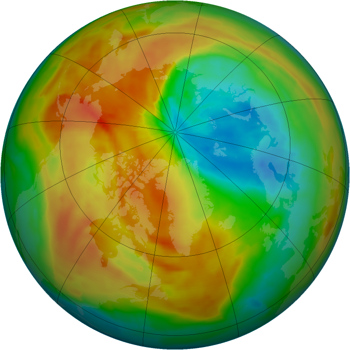 Arctic ozone map for 31 March 2011