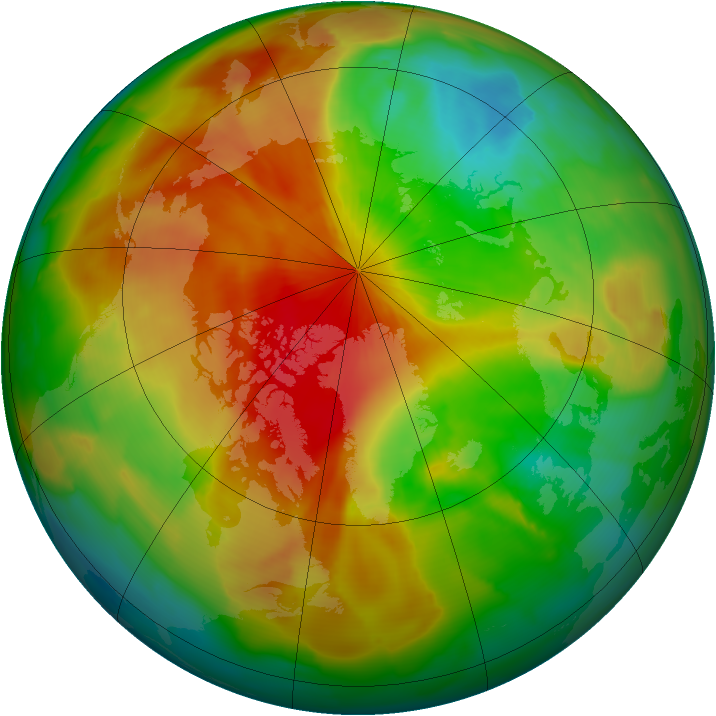 Arctic ozone map for 09 April 2011