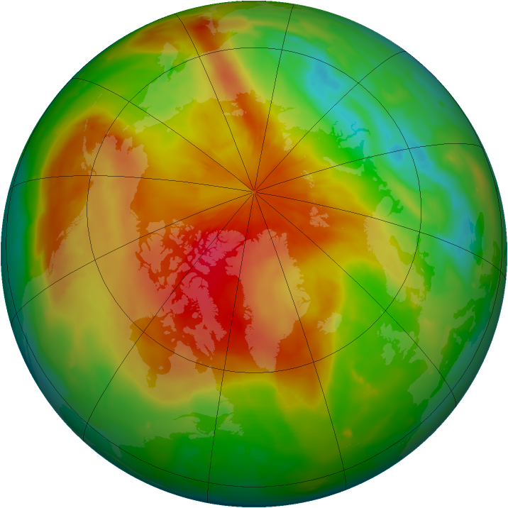 Arctic ozone map for 14 April 2011