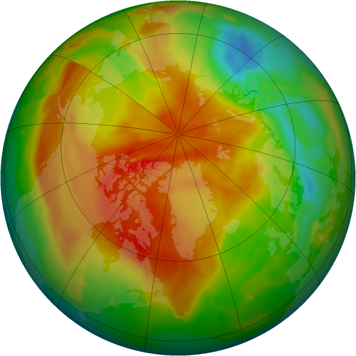 Arctic ozone map for 16 April 2011