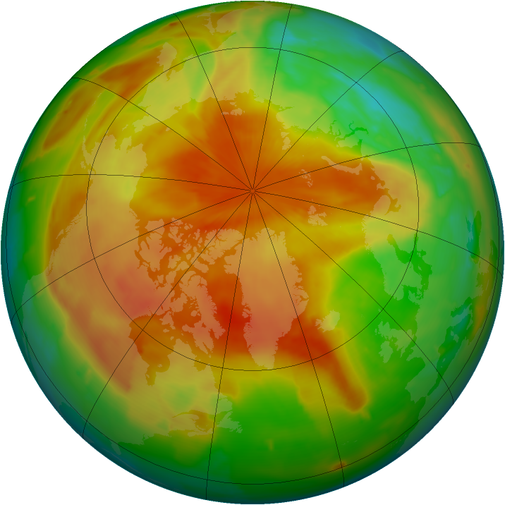 Arctic ozone map for 18 April 2011