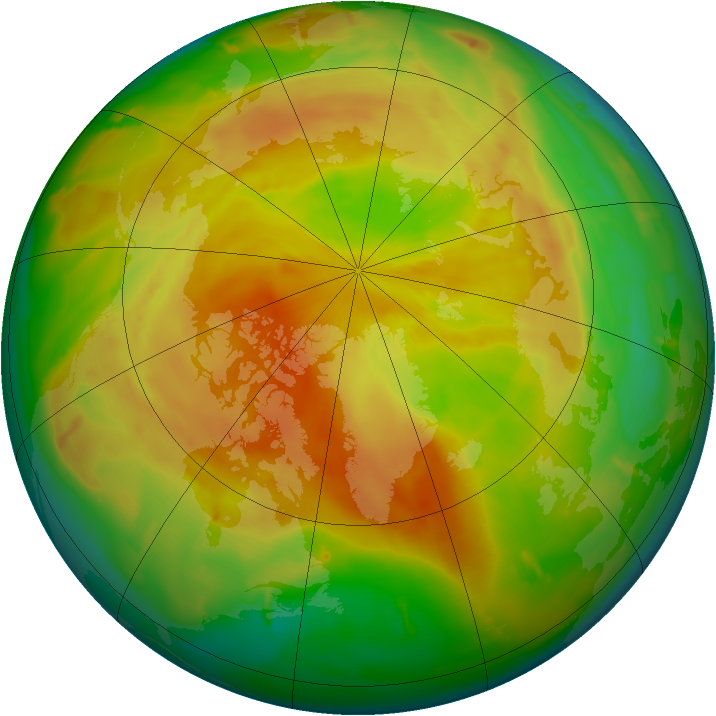 Arctic ozone map for 29 April 2011