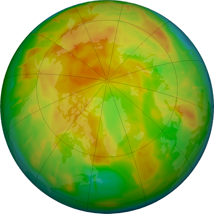 Arctic ozone map for 05 May 2011