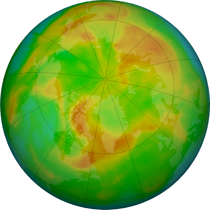 Arctic ozone map for 15 May 2011