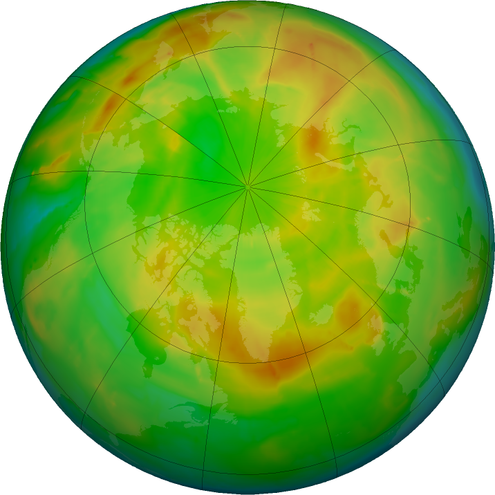 Arctic ozone map for 18 May 2011