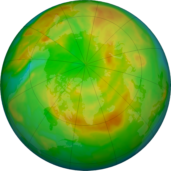 Arctic ozone map for 19 May 2011