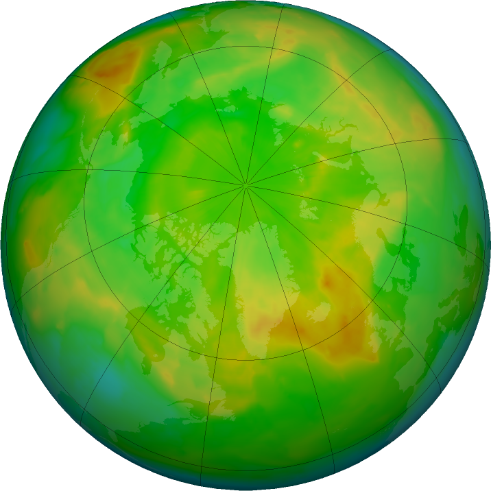 Arctic ozone map for 30 May 2011