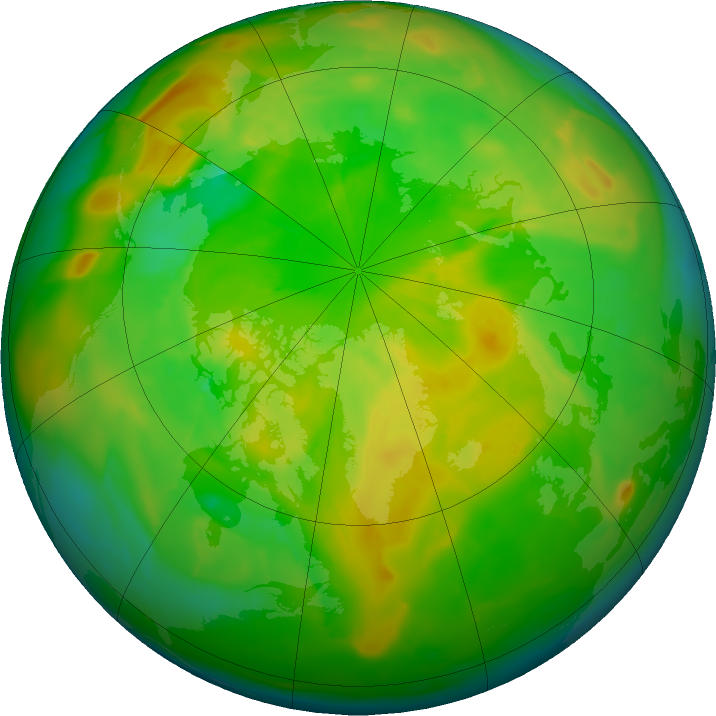 Arctic ozone map for 01 June 2011