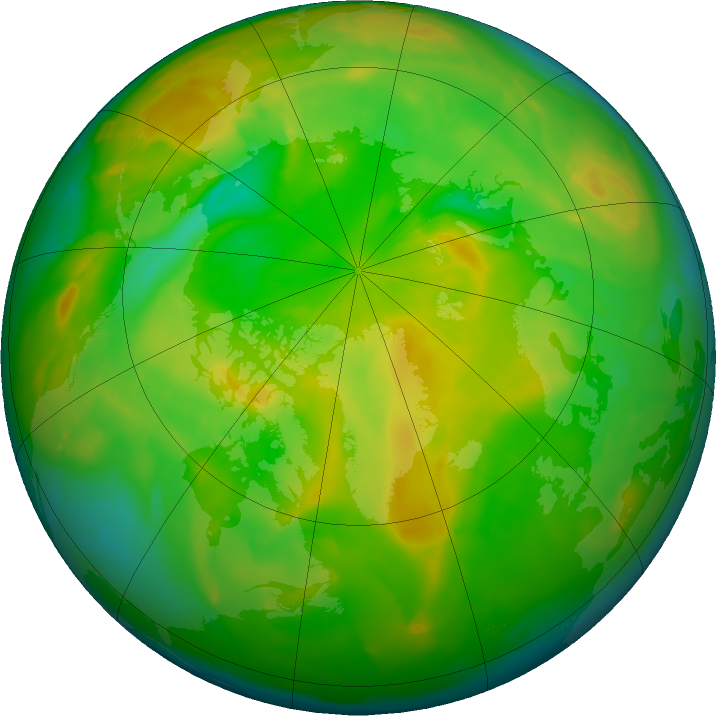 Arctic ozone map for 02 June 2011