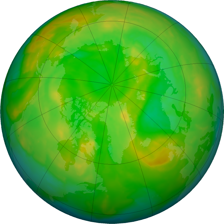 Arctic ozone map for 09 June 2011