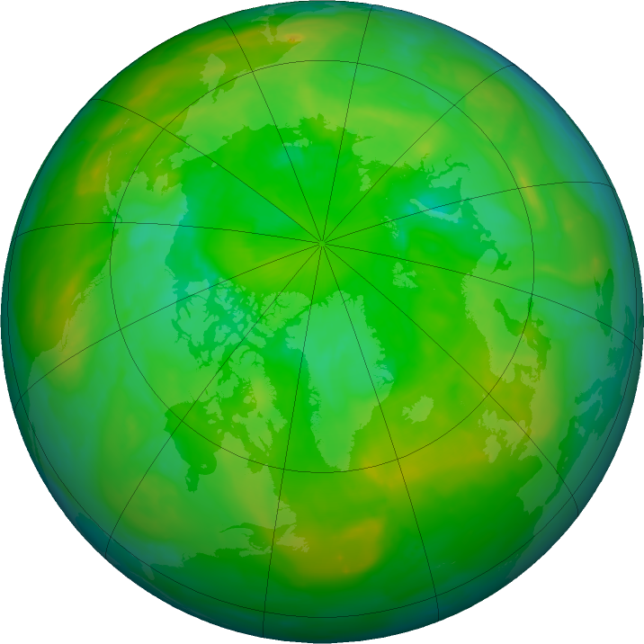 Arctic ozone map for 23 June 2011