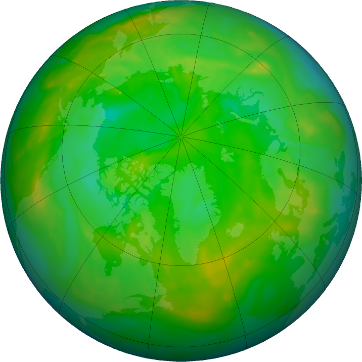 Arctic ozone map for 24 June 2011