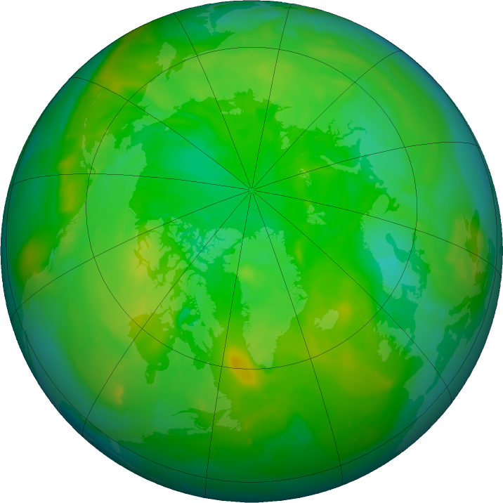 Arctic ozone map for 28 June 2011
