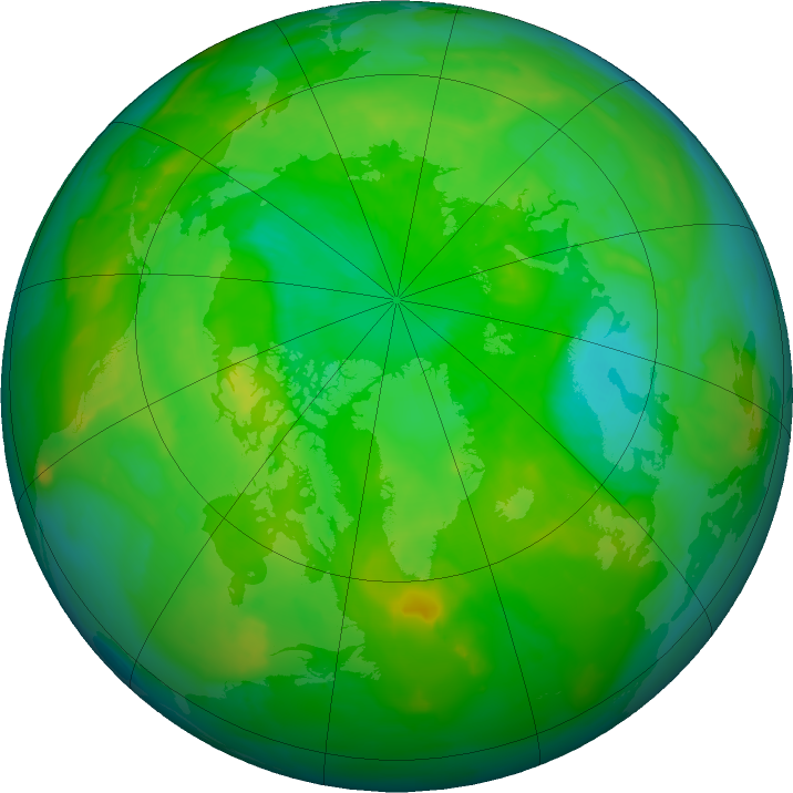Arctic ozone map for 29 June 2011