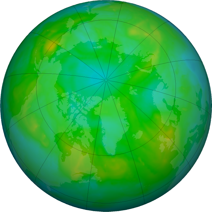 Arctic ozone map for 09 July 2011