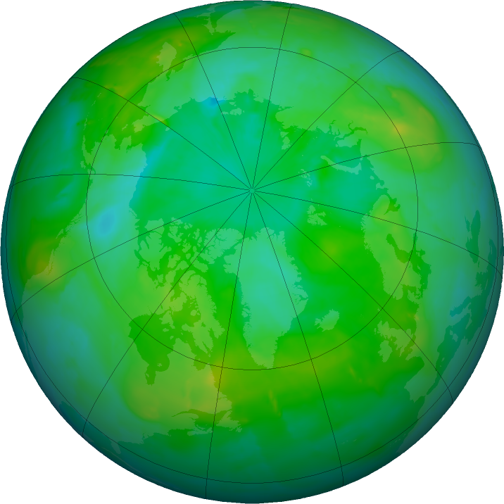 Arctic ozone map for 13 July 2011
