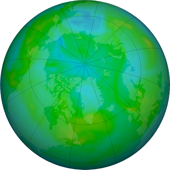 Arctic ozone map for 24 July 2011