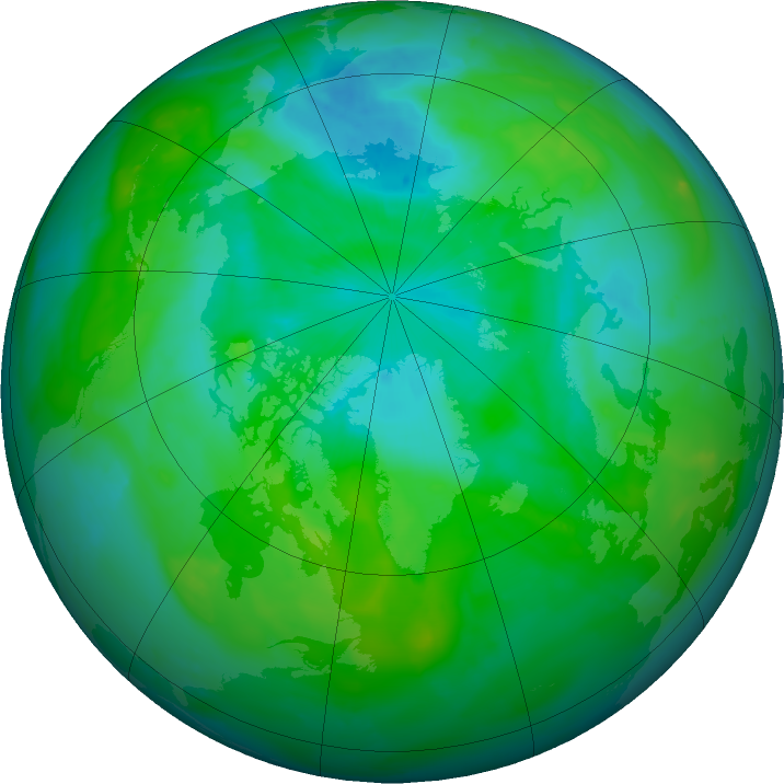 Arctic ozone map for 25 July 2011