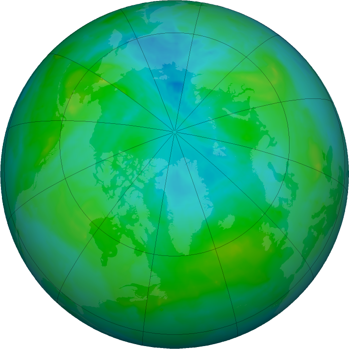 Arctic ozone map for 04 August 2011