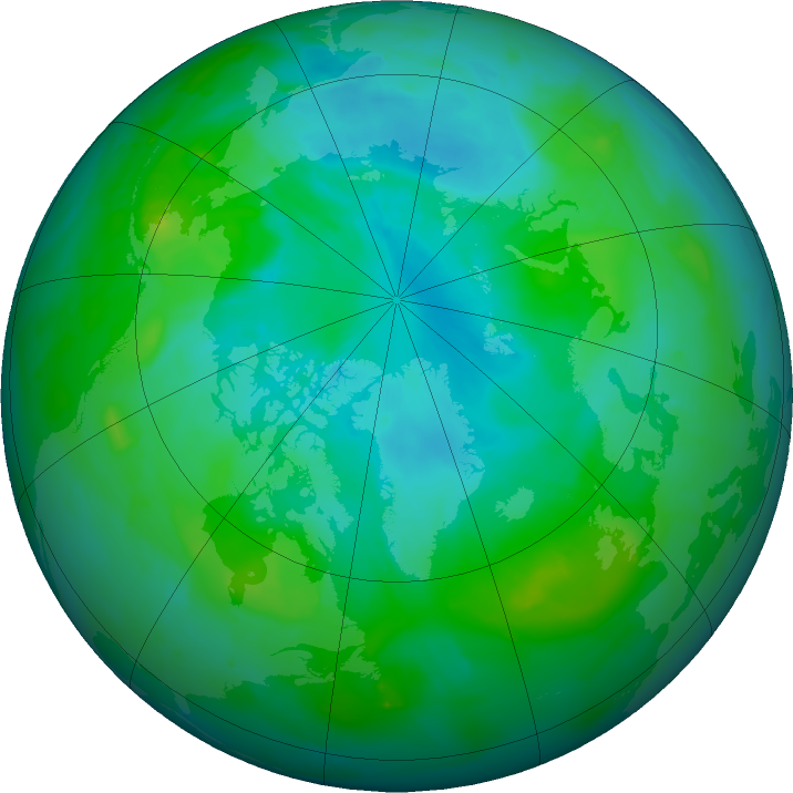 Arctic ozone map for 06 August 2011