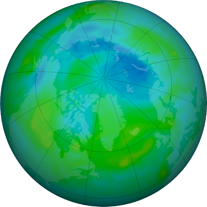 Arctic ozone map for 19 August 2011