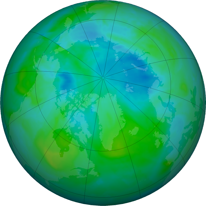 Arctic ozone map for 21 August 2011