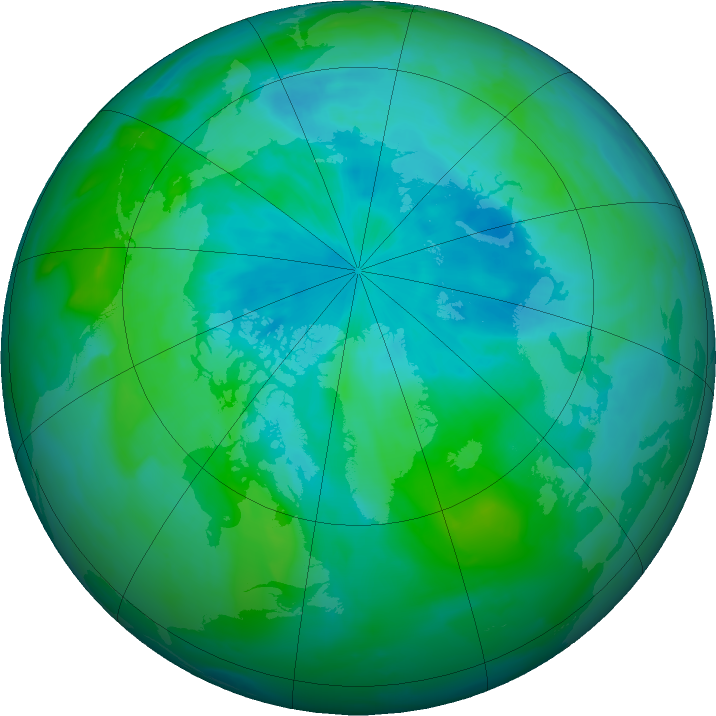 Arctic ozone map for 23 August 2011