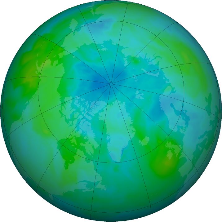 Arctic ozone map for 25 August 2011