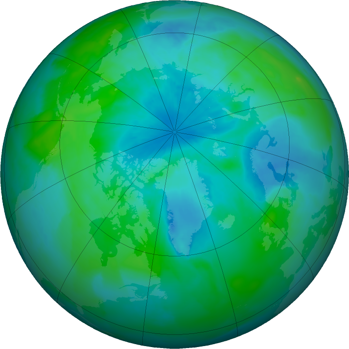 Arctic ozone map for 28 August 2011